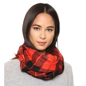 Kate Spade Woodland Plaid Oblong Scarf
